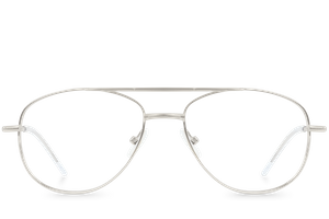 spoiler silver polette glasses front view