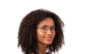 thatcher black polette glasses model view 2