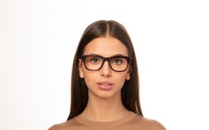 vanity brown polette glasses model view 01