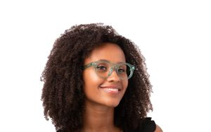 victoria green polette glasses model view 1