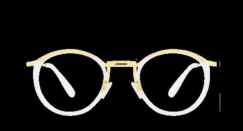 Lunettes Ovale Amalfi polette en Métal Transparent.