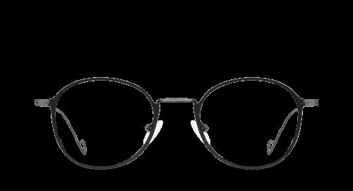 Lunettes ovales Jeeby polette en métal noir vue de devant.