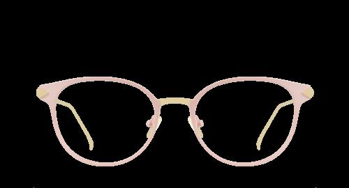 Lunettes Ovale Marisa Pink polette en Métal Rose.