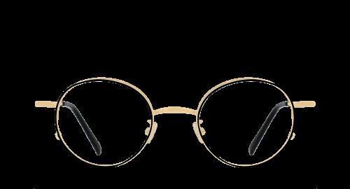 Lunettes Ovale Morrison polette en Métal Noir.