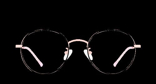 Lunettes ovales Pantera polette en métal noir vue de devant.