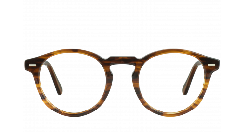 Lunettes Ovale Seattle Brown polette en Acétate Marron.