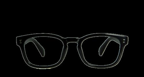 Lunettes Rectangulaire Tarot Black polette en Plastique flexible Noir.