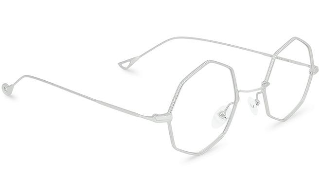 lunettes en métal géométrique