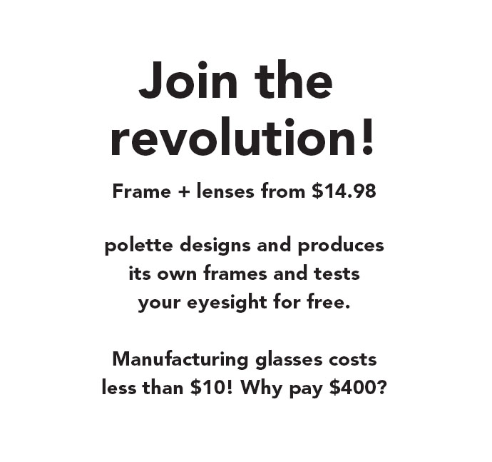 Join the revolution for affordable glasses and sunglasses online