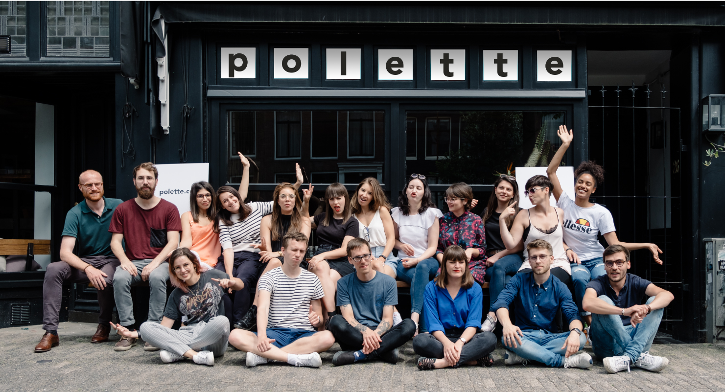 polette team in the streets of Amsterdam